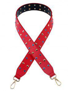 برشام مطرز بو حقيبة حزام - أحمر