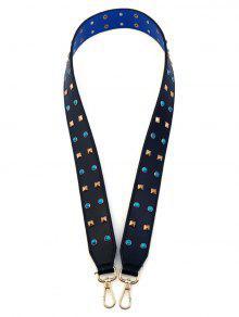 Rivet Beaded PU Bag Strap - Purplish Blue