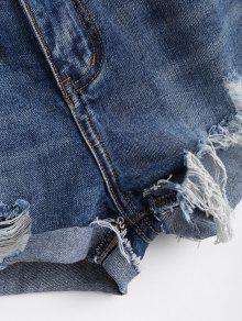 zerrissene cutoffs denim shorts denim blau hosen kurz m. Black Bedroom Furniture Sets. Home Design Ideas