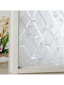 الخيزران كهرباء نافذة زجاج الجدار ملصق - ابيض صافي