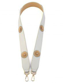 زهرة خمر الكتف حزام حقيبة التبعي - أبيض فاتح