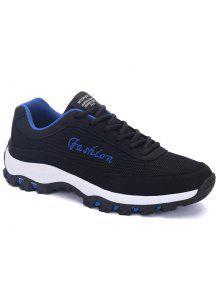 حرف اللون كتلة شبكة حذاء - أسود 40