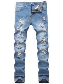 بنطلون جينز ضيق - الضوء الأزرق 40