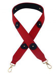 زهرة خمر الكتف حزام حقيبة التبعي - أحمر