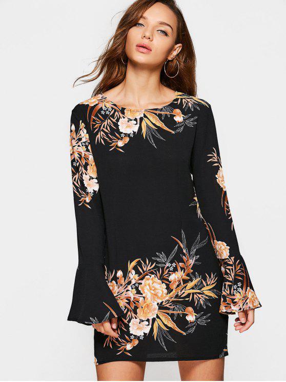 Vestido estampado con estampado floral - Floral S