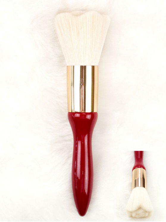 Brosse en poudre pour cheveux haute qualité Rose Design - Rouge