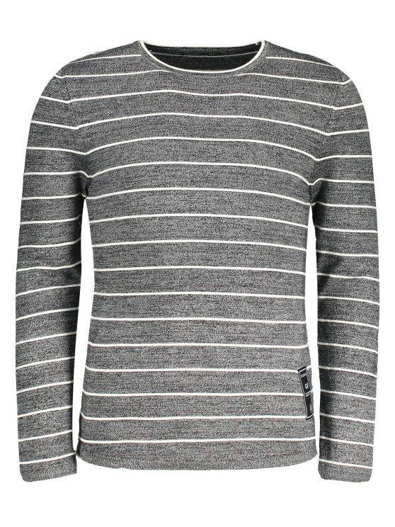 online Mens Pinstripe Sweater - GRAY 2XL