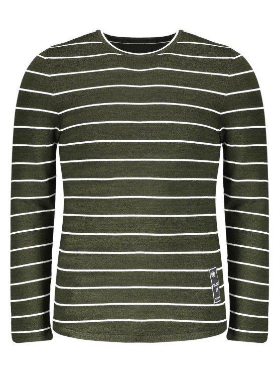 hot Mens Pinstripe Sweater - GREEN 2XL