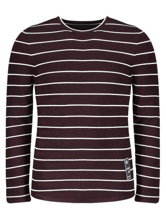 outfits Mens Pinstripe Sweater - DARK RED 2XL