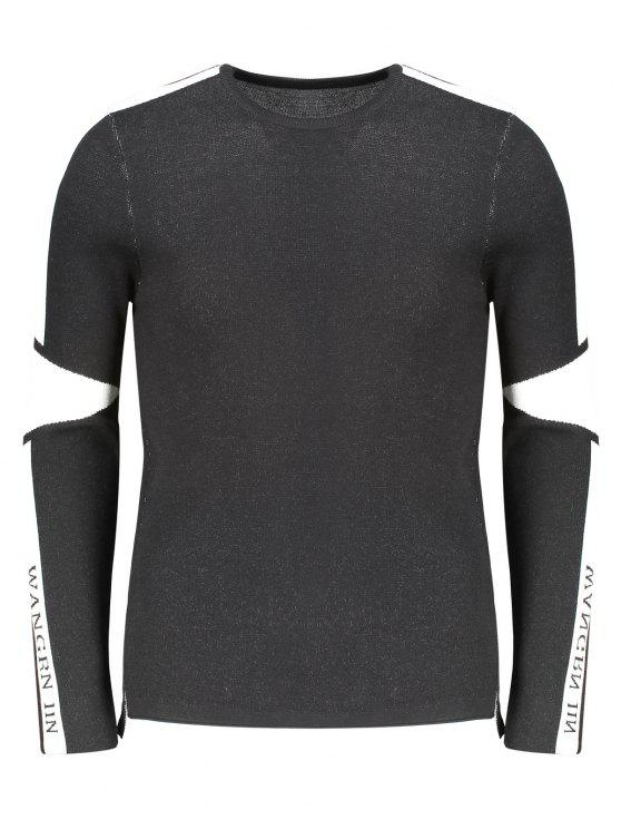 unique Two Tone Sweater - WHITE AND BLACK 2XL