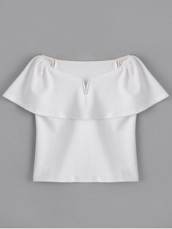 outfits Fitting Overlap Off Shoulder Top - WHITE L