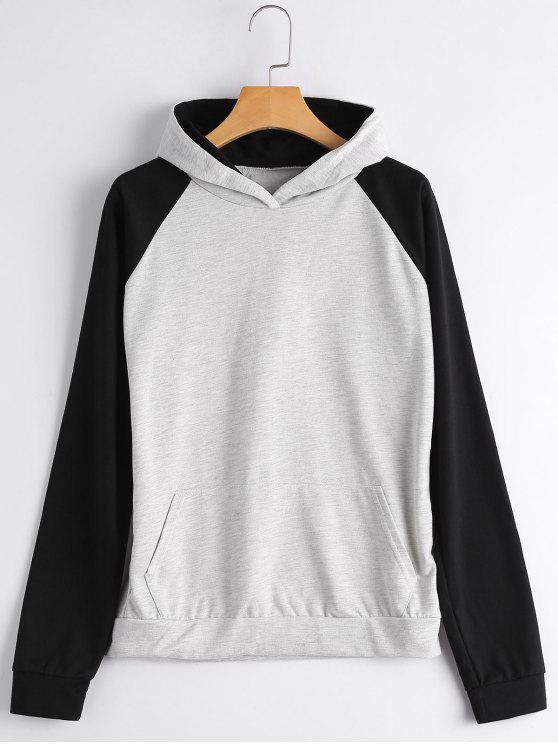 Casual Two Tone Hoodie - Gris S