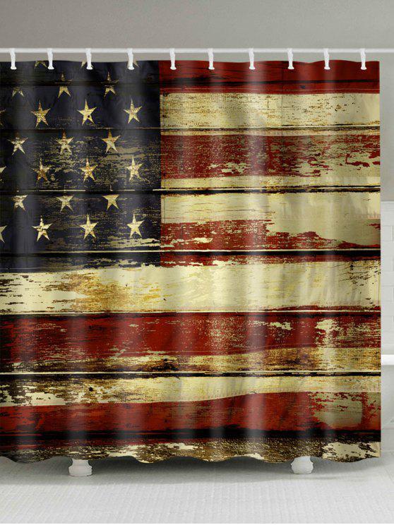 ديسترسد، العلم الأمريكي، حمم، إستحمام، كورتين - مزيج ملون W59 بوصة * L71 بوصة