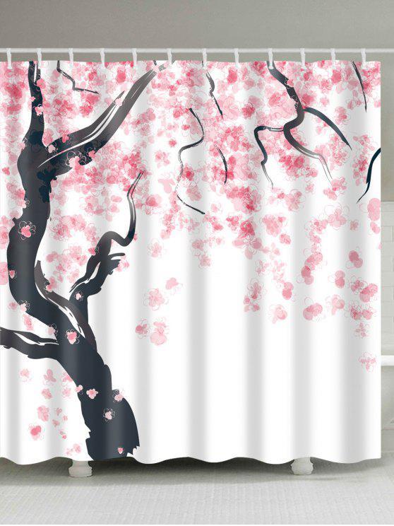 Rideau De Douche À L\'arbre Fleuri Pour La Salle De Bain ROSE PÂLE ...