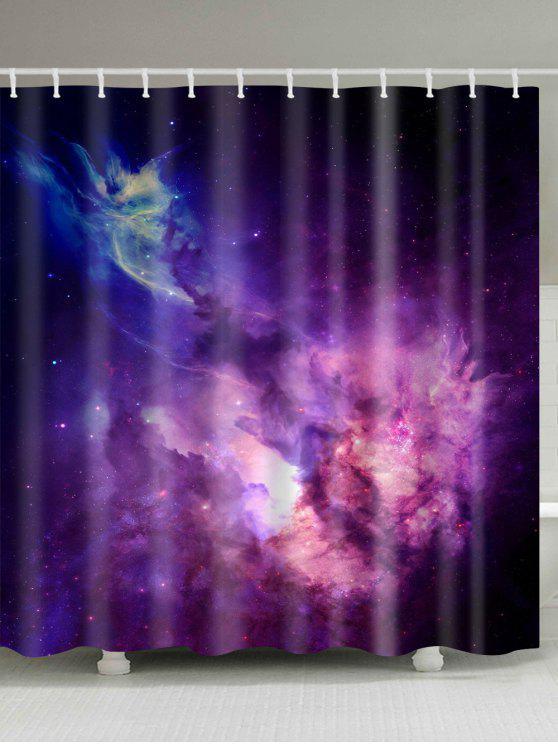 Online Galaxy Print Waterproof Fabric Bathroom Shower Curtain