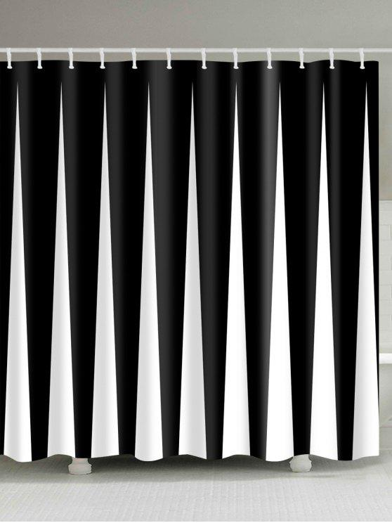 لون كتلة طباعة ماء النسيج حمام دش الستار - شريط أسود W71 بوصة * L79 بوصة