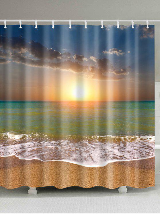 مقاومة للماء الغروب شاطئ دش الستار - مزيج ملون W59 بوصة * L71 بوصة