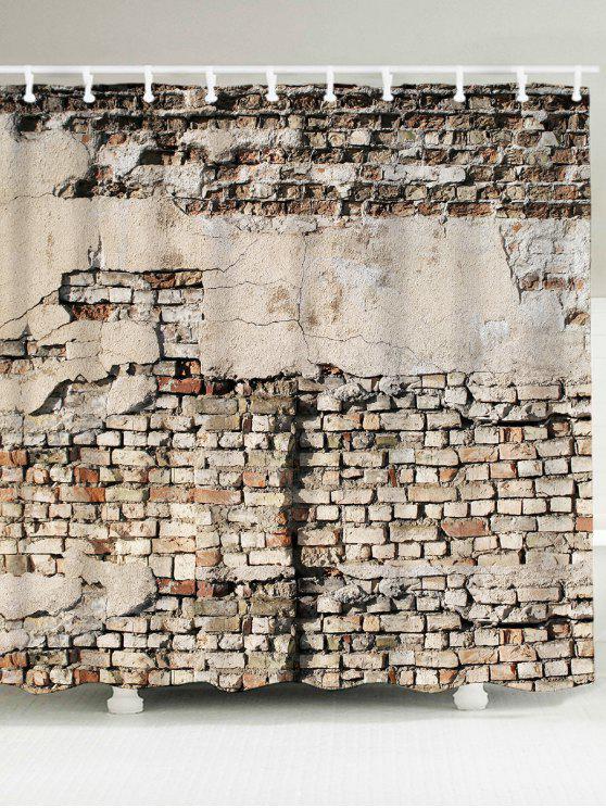 كسر الطوب جدار ماء حمام الستار - رمادي W59 بوصة * L71 بوصة