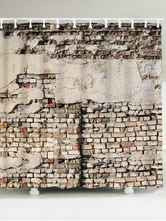 كسر الطوب جدار ماء حمام الستار - اللون الرمادي W71 بوصة * L79 بوصة