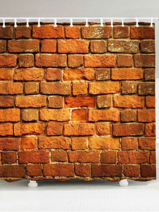 الطوب جدار مطبوعة ماء دش الستار - ترابي W79 بوصة * L71 بوصة