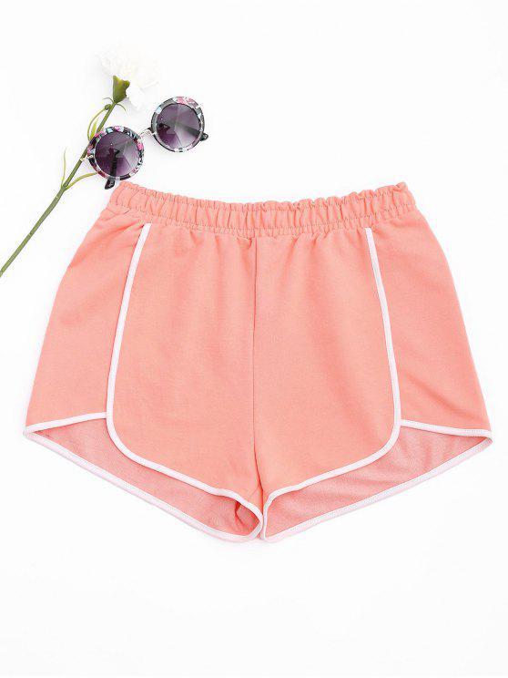 Delphin-Shorts aus Baumwoll - orange pink  L