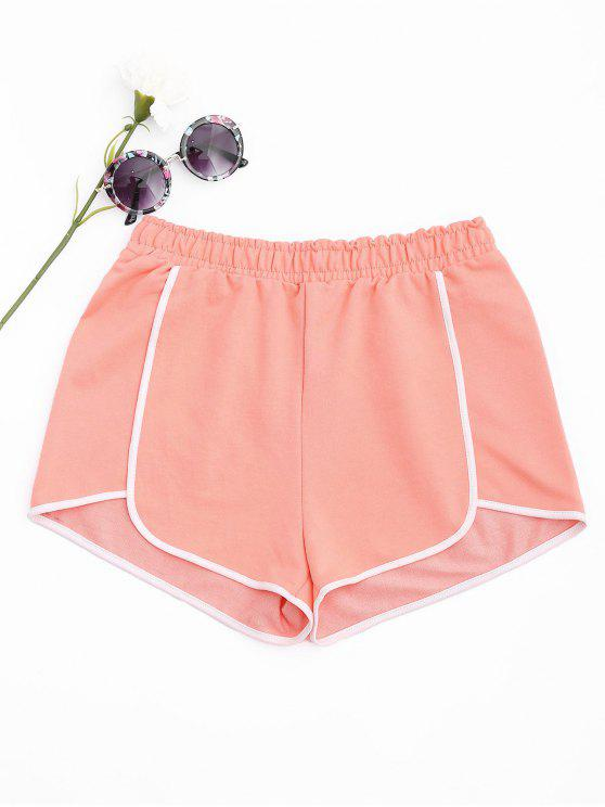 Delphin-Shorts aus Baumwoll - orange pink  S
