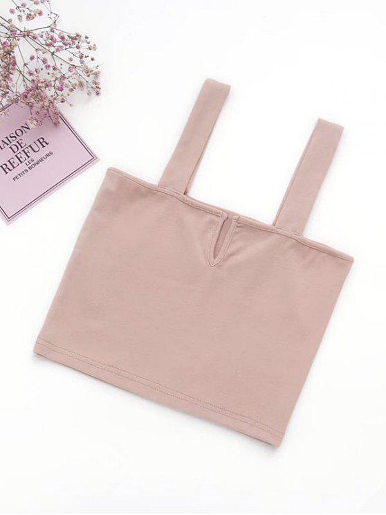 Casual Straps Crop Top - Rosa Claro M