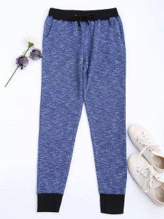 Heathered Knit Sweatpants - Blue L