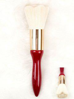 Rose Design High Grade Hair Powder Brush - Red