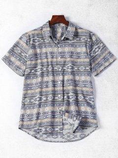Chemise à Motif à Manches Courtes - M