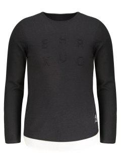 Contrast Trim Mens Sweater - Black 2xl