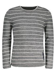 Mens Pinstripe Sweater - Gray 2xl