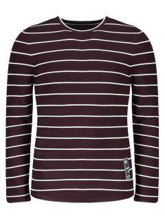 Mens Pinstripe Sweater - Dark Red 2xl