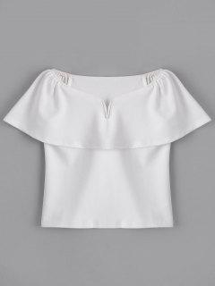 Fitting Overlap Off Shoulder Top - White L