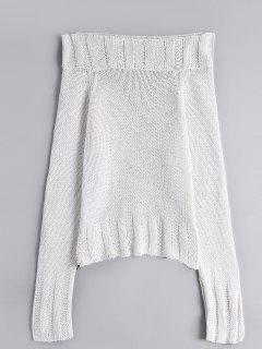 Chunky Off Shoulder Sweater - White