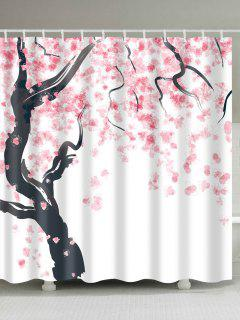 Cortina De Ducha Blossomed Del árbol Para El Baño - Rosa W71pulgadas*l79pulgadas