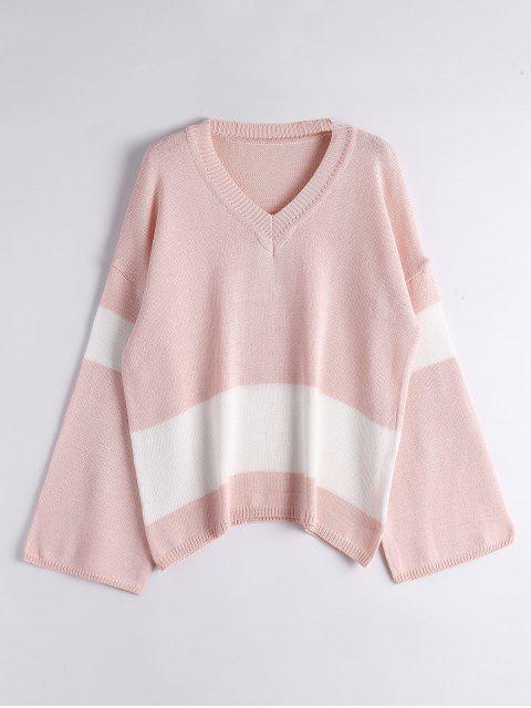Suéter de dos tonos - Rosa Única Talla Mobile