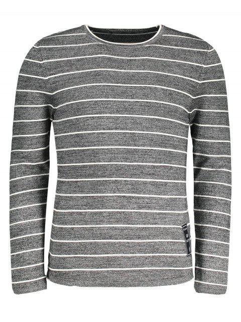 online Mens Pinstripe Sweater - GRAY 2XL Mobile