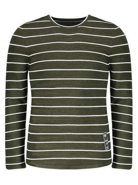 hot Mens Pinstripe Sweater - GREEN 2XL Mobile