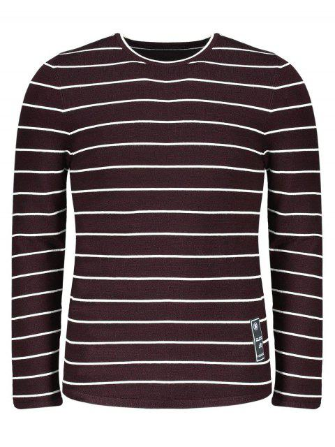 outfits Mens Pinstripe Sweater - DARK RED 2XL Mobile