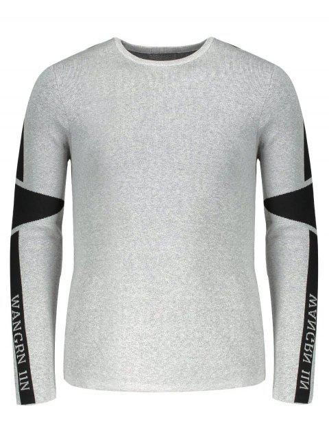 affordable Two Tone Sweater - GRAY 2XL Mobile