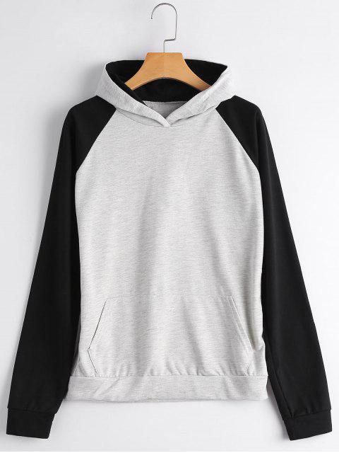 Casual Two Tone Hoodie - Gris S Mobile