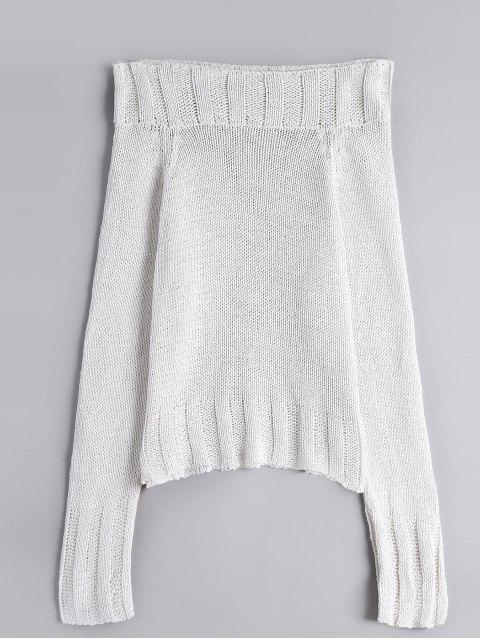 Chomky Off Shoulder Sweater - Blanc Taille Unique Mobile