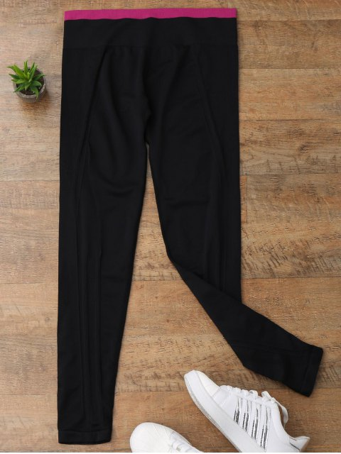 online Contrast Trim Running Leggings - TUTTI FRUTTI S Mobile