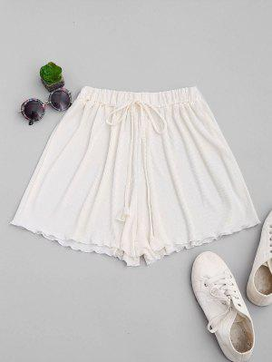 Pleated Cover-Up Shorts - Off-white