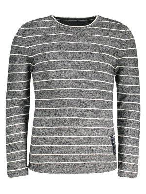 Mens Pinstripe Sweater - Gray - Gray 3xl