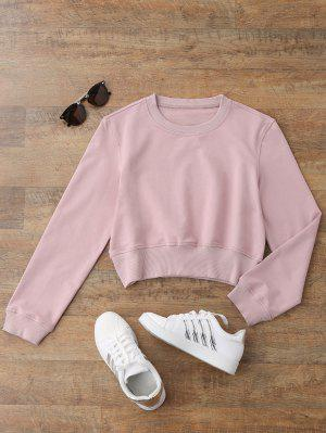 Crew Neck Casual Cropped Sweatshirt