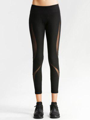 Workout Mesh Panel Skinny Leggings