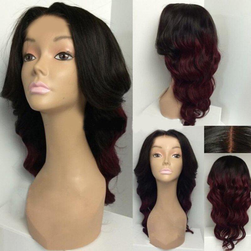 Long Center Parting Ombre Body Wave Synthetic Wig 224453701