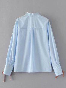 243;n La Claro Camisa Azul Ata El Para L Bot Abajo Arriba Yqxa5wz